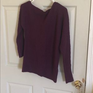 Sweaters - Off the shoulder purple sweater
